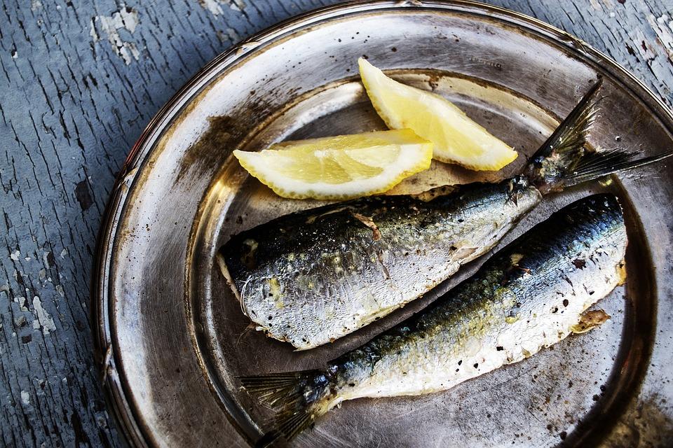 seafood and lemons