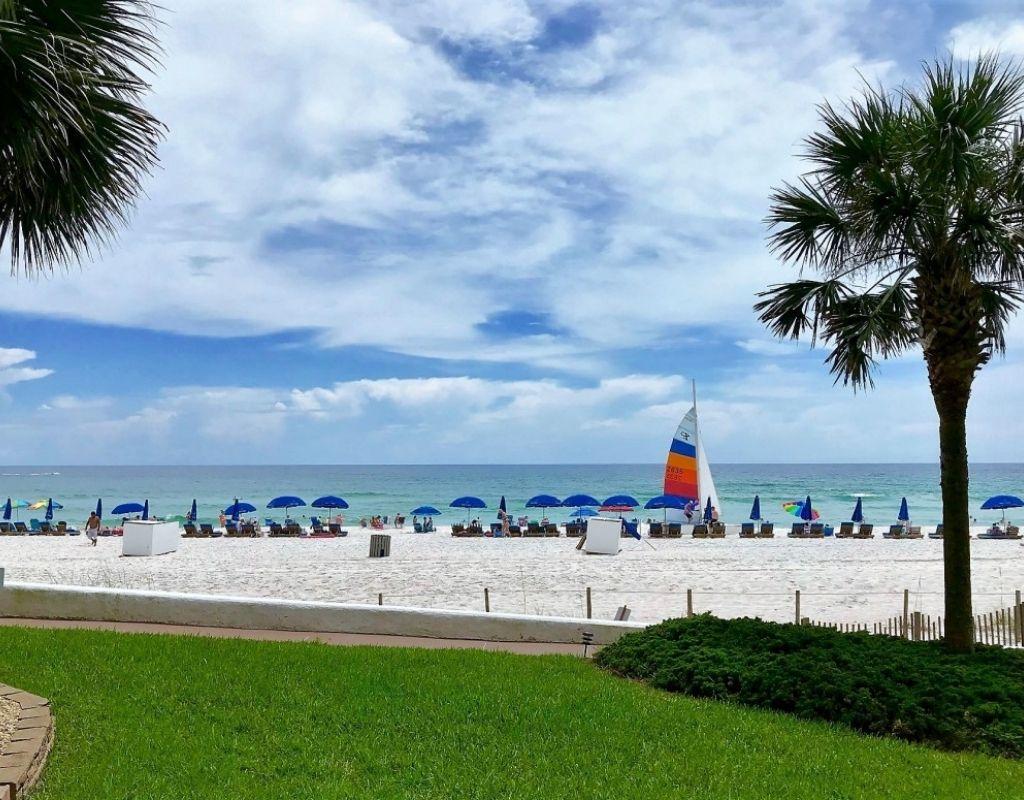 panama city beach condo rental view