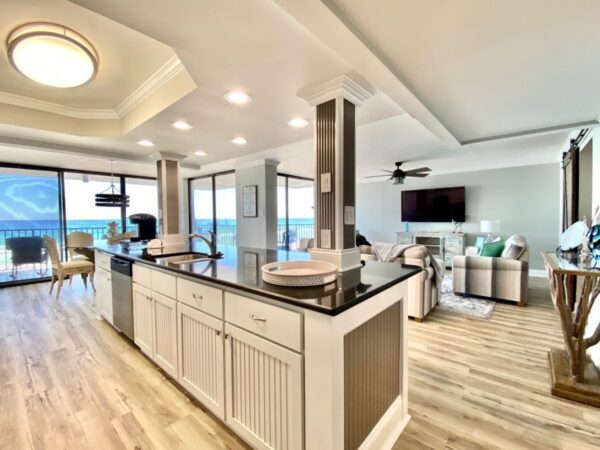 Beautiful large kitchen in our panama city beach vacation condo