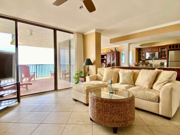 A nice view of the ocean in our Panama City Beach condo rental